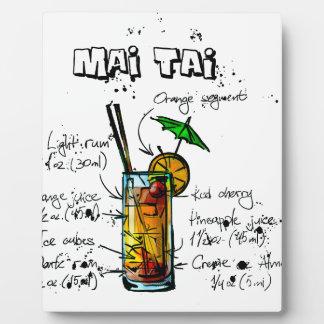 Cocktail Recipe Mai Tai Plaque