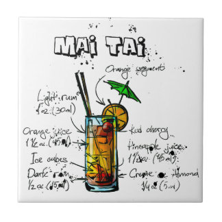 Cocktail Recipe Mai Tai Tile