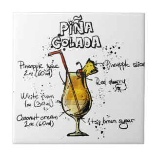 Cocktail Recipe Pina Colada Tile