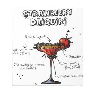 Cocktail Recipe Strawbeery Daiquiri Notepad