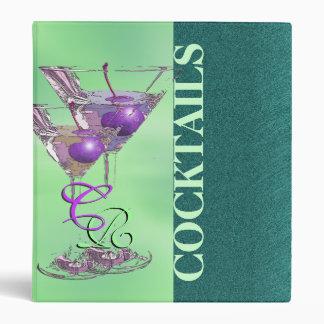 Cocktail recipe summer pub gift binder