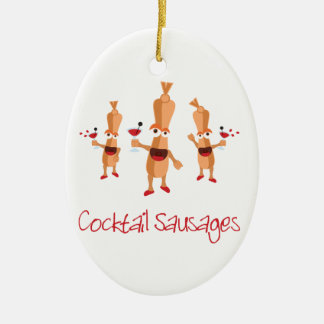 Cocktail Sausages Ceramic Ornament
