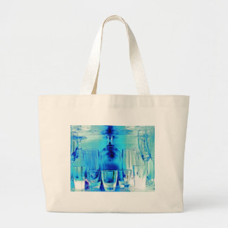 Cocktail Shot and Wine Glasses - Blue Tint Bag