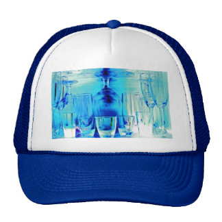 Cocktail Shot and Wine Glasses - Blue Tint Trucker Hat
