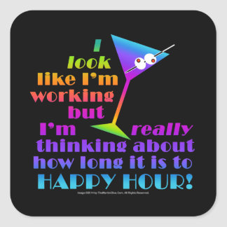 Cocktail Stickers - How Long to Happy Hour