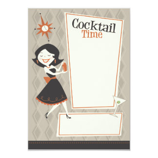 Cocktail Time 5x7 Paper Invitation Card