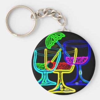 Cocktail Time Basic Round Button Keychain