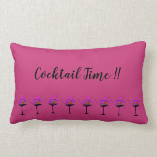 Cocktail Time Martini Glass Pillow