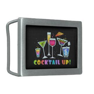 COCKTAIL UP GLASSES BELT BUCKLE