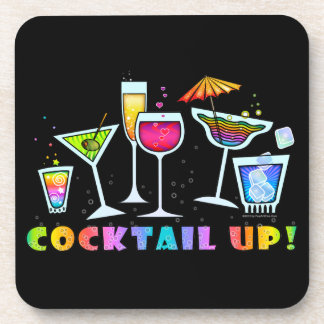 COCKTAIL UP GLASSES CORK COASTERS