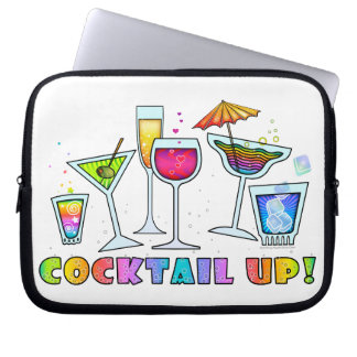 COCKTAIL UP GLASSES ELECTRONICS LAPTOP BAG