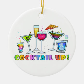 COCKTAIL UP GLASSES HANGING ORNAMENT