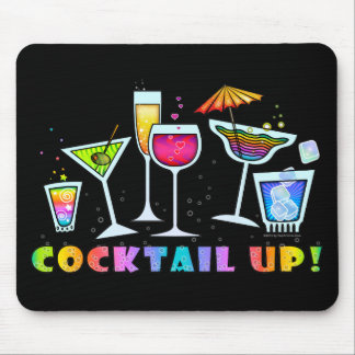 COCKTAIL UP GLASSES MOUSEPAD