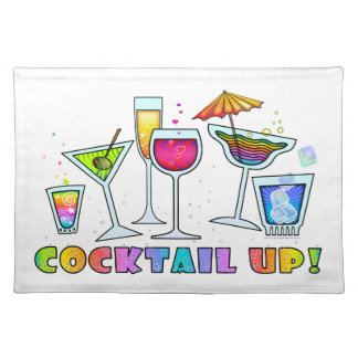 COCKTAIL UP GLASSES PLACEMAT