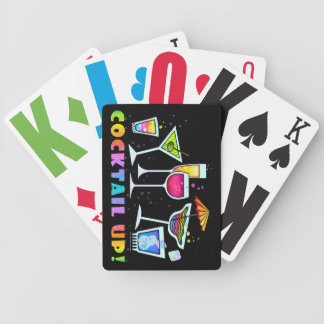 COCKTAIL UP GLASSES PLAYING CARDS DECK
