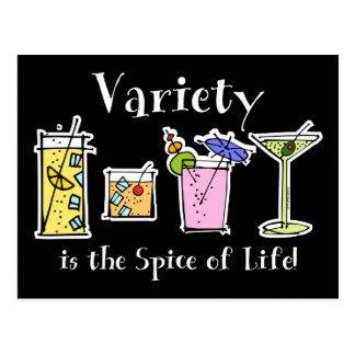 Cocktail Variety Postcard