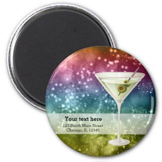 Cocktails 2 Inch Round Magnet