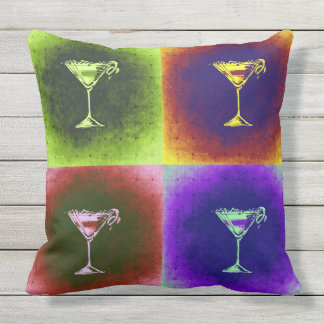 Cocktails 4 Panel Outdoor Pillow