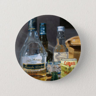 Cocktails and Mustard Pinback Button