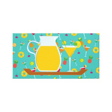 Art Themed Cocktails Anyone Canvas Print