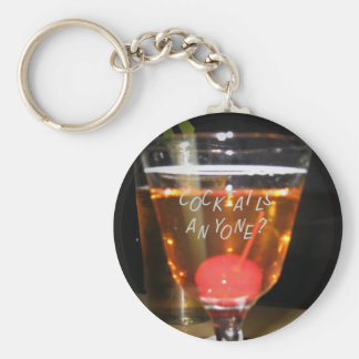 Cocktails Anyone? Keychain