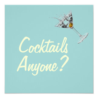 Cocktails Anyone Mod Custom Invitations