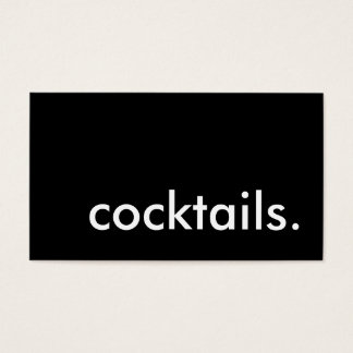 cocktails. business card