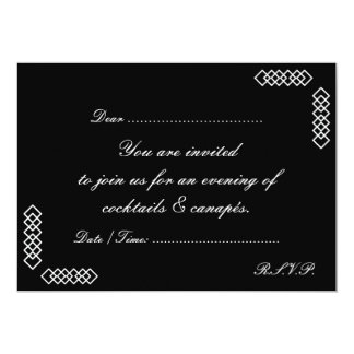 COCKTAILS & CANAPES INVITE