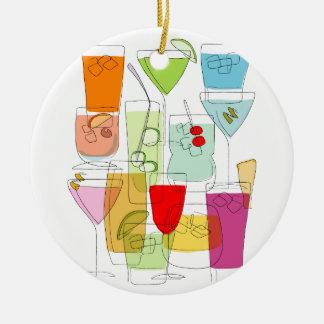 Cocktails Ceramic Ornament