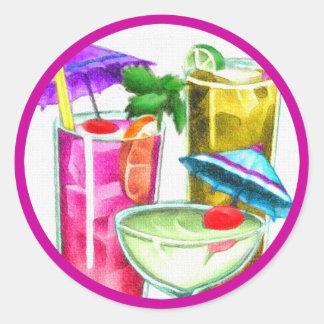 Cocktails Classic Round Sticker