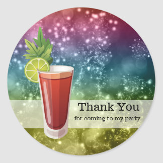 Cocktails Classic Round Sticker