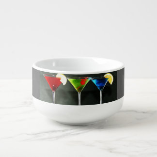 """COCKTAILS COCKTAILS"" SOUP MUG AND BOWL"