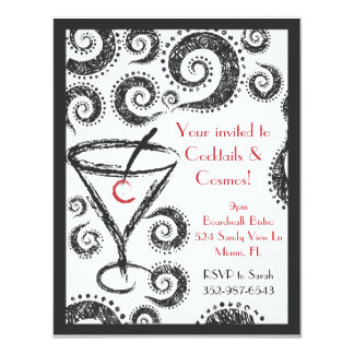 Cocktails & Cosmos invitations
