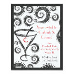 "Cocktails & Cosmos invitations 4.25"" X 5.5"" Invitation Card"