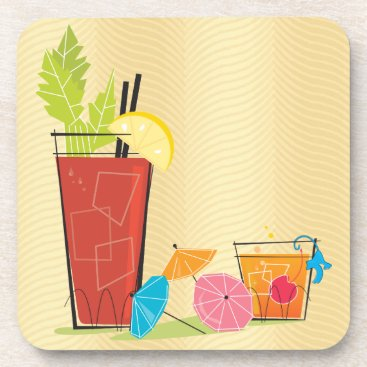 Beach Themed Cocktails Drink Coaster