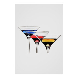COCKTAILS FOR THREE POSTER