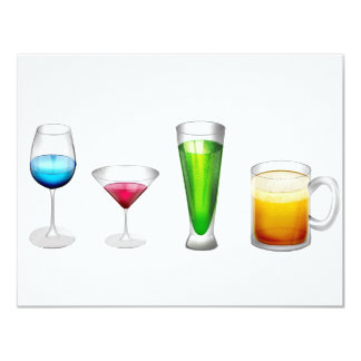 Cocktails in bright colors card