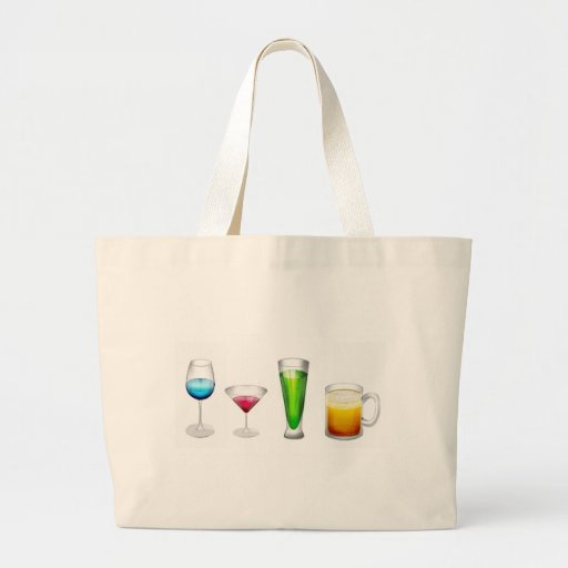 Cocktails in bright colors tote bags
