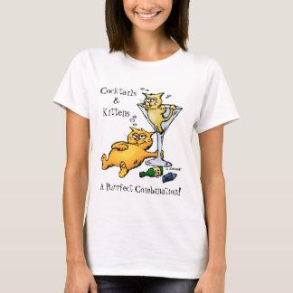 Cocktails & Kittens Purrfect Combo Cartoon Shirt