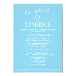 Cocktails & Lingerie Shower Invitations | Blue