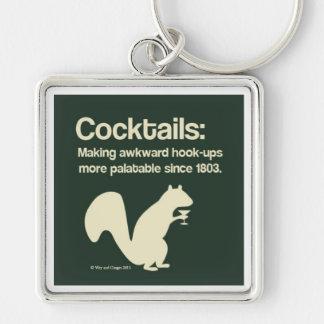 Cocktails make the world go round keychain