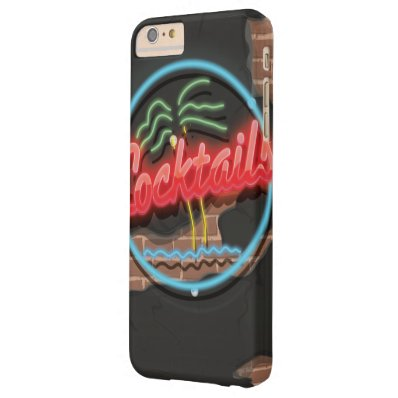 Cocktails Nightclub Neon. Barely There iPhone 6 Plus Case