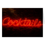 Cocktails on Brick Greeting Card