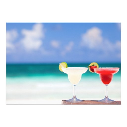Cocktails on the beach announcements