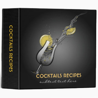 Cocktails Recipes Avery Binder Template