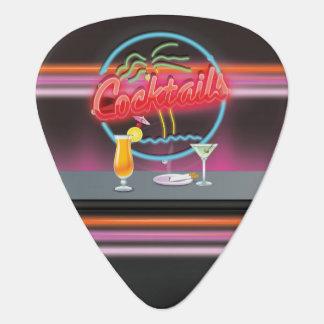 cocktails Retro neon bar sign Guitar Pick