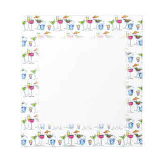 COCKTAILS UP GLASSES NOTEPAD
