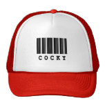cocky barcode design mesh hats