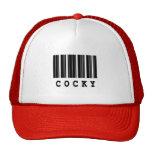 cocky barcode design trucker hat