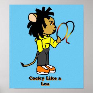 Cocky Like a Leo Poster